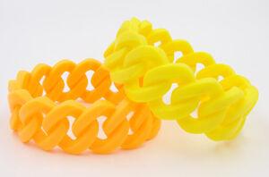 12-New-Neon-Bright-Colored-Chain-Link-Silicone-Bracelets-B1232NEON