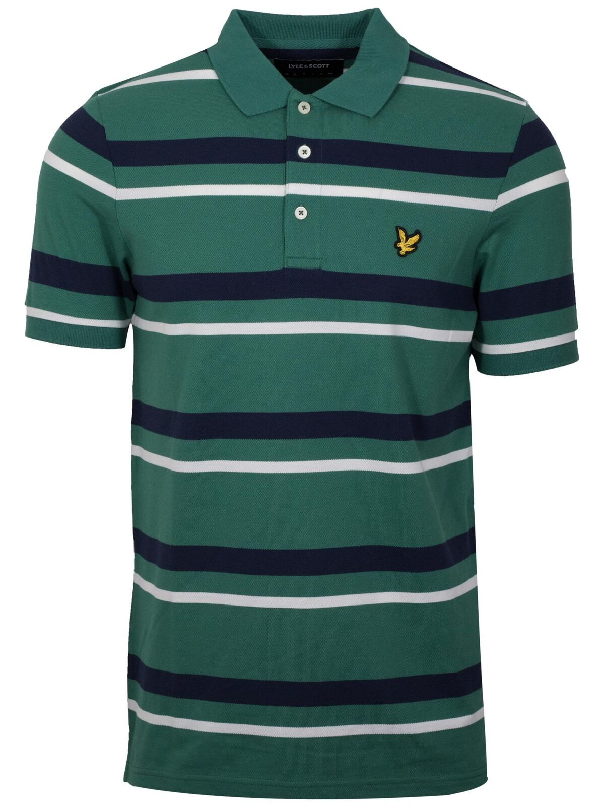 Lyle & & & Scott Alpine Grün Striped Polo Shirt d04200