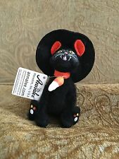 """Annalee Halloween 2009 4"""" Candy Corn Witch Cat Open Mouth 300008 NWT"""