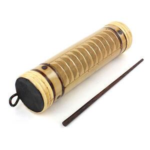 Bamboo Güiro Et Shaker Avec Stick-commerce équitable Percussion Agitant Instrument-afficher Le Titre D'origine 9klgy9xl-07160928-795411860