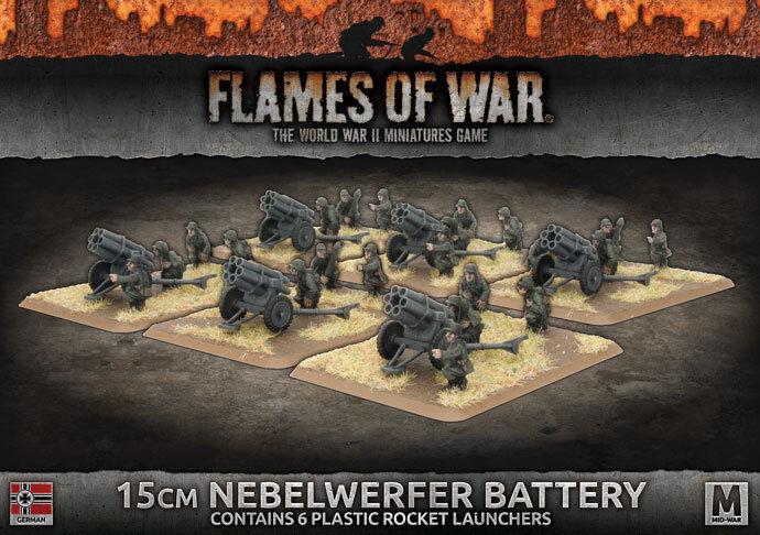Flames of War BNIB 15cm Nebelwerfer Battery GBX118