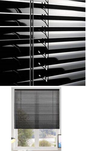 ALUMINIUM VENETIAN BLIND WINDOW BLINDS SILVER BLACK WHITE COLOUR 25MM SLATS