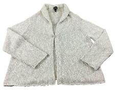 XL 1X Eileen Fisher~ Merino & Cashmere blend cardigan sweater~ Clear Grey