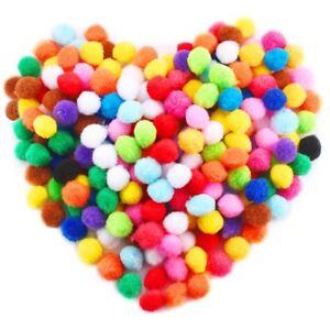 100pcs-Craft-PomPoms-Balls-Fluffy-Pom-Poms-1cm-DIY-Creative-Crafts-Decorations