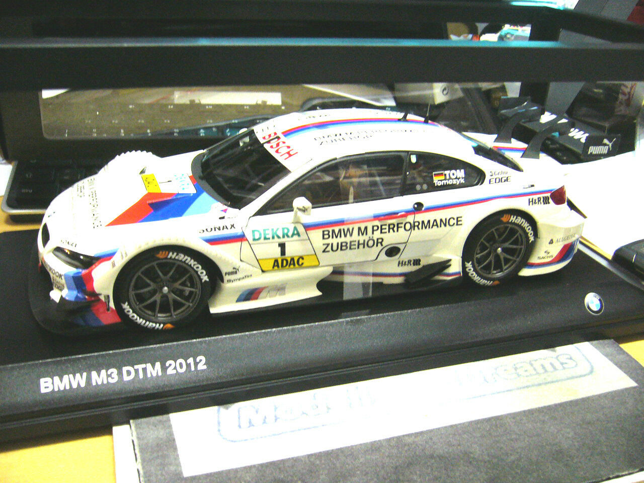 BMW m3 e92 COUPE DTM 2012 Tomczyk Team Reinhold marchandises  1 SP Minichamps 1 18 New