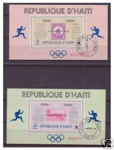 Haiti-1968-JEUX-OLYMPIQUES-Perf-feuilles-x-2-F-U-SG-ms1152