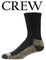 Aetrex Copper Sole Extra Cushion Non-binding Crew Socks Men Women S2000m Black