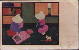 uec-Postcard-Sun-Bonnet-Girls-The-Study