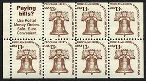 #1595b 13c Libertad Bell, Folleto Panel De [2 ], Nuevo Cualquier 5=