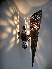 58 cm applique torcia Marocchino ferro battuto lampada lanterna orientale