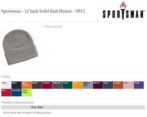 12 Inch Knit Beanie SP12 Sportsman
