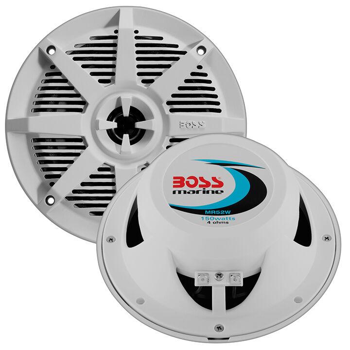 BOSS 13.3cm AUDIO mr52w 13.3cm BOSS 2-Way Koaxial marine Lautsprecher 150w weiß 61aac3
