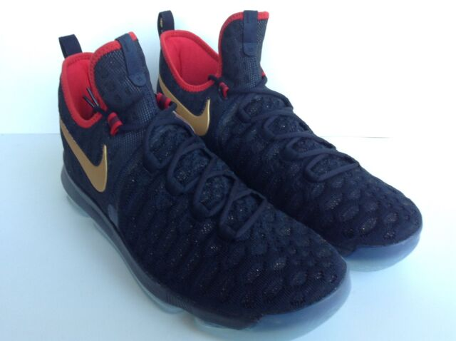 brand new e2a88 48b18 NIKE ZOOM KD 9 LMTD(843396-470) DARK OBSIDIAN METALLIC GOLD USA OLYMPIC
