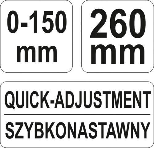 Feststellzange Karosserie Schweißer-Zange XL Parallel-Gripzange 150mm Spannweite