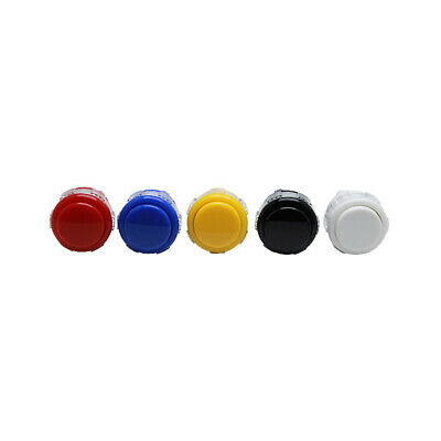 10pcs 24mm push buttons replace for arcade button games parts of 7 colors Yg