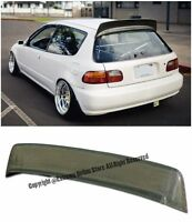 For 92-95 Honda Civic 3dr Bys Style Yellow Kevlar Carbon Rear Roof Wing Spoiler