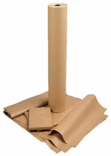 750mm x 20m KEPLIN Heavy Duty Brown Kraft Wrapping Paper Roll 90gsm