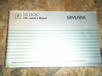 1981 BUICK SKYLARK OWNERS MANUAL GLOVE BOX BOOKLET ORIGINAL