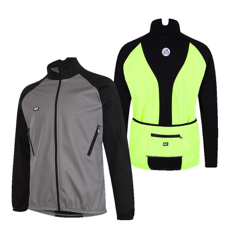 Para Hombre D2D+ coldstop Softshell Invierno Chaqueta De  Ciclismo Talla Plus  gris o Hi-Viz  comprar ahora