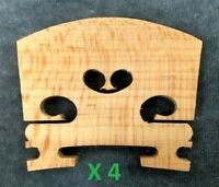 Four(4) 1/4 Size Violin Bridges High Quality Low Cost