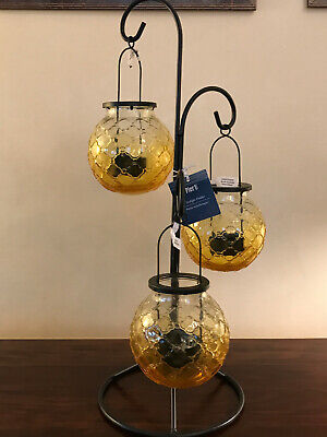 Nwt Pier 1 Glass Hanging Triple, Pier 1 Hanging Lamps