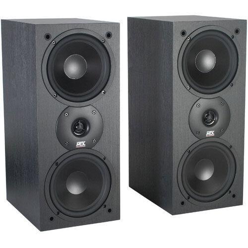 "2 MTX 6.5/"" Bookshelf Dual Stereo Speakers.Home Audio Monitor Pair.8ohm. NEW"