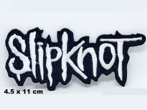 Slipknot Title logo Metal Music Red Embroidered Iron// Sew-on Patch Jacket Badge