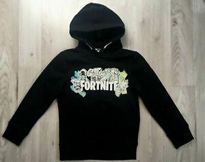 BNWT-Boys-Teens-Kids-Black-FORTNITE-Gamer-Hooded-Hoodie-Jumper-Top-Ages-7-16