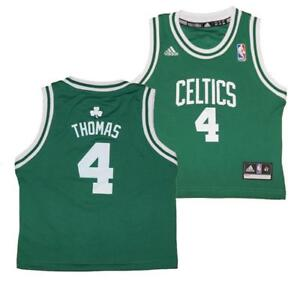 the best attitude e5dba dca60 Details about Adidas Isaiah Thomas #4 Boston Celtics NBA Toddlers Replica  Road Jersey 2T-4T