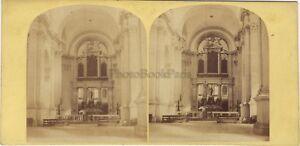 San Giorgio Maggiore Venezia Italia Foto Stereo Vintage Albumina Ca 1865