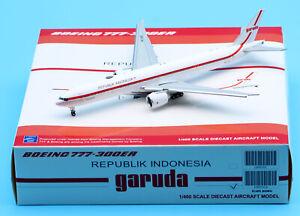JC Wings 1:400 Republik Indonesia B777-300ER Diecast Jet Model PK-GIG Flaps Down
