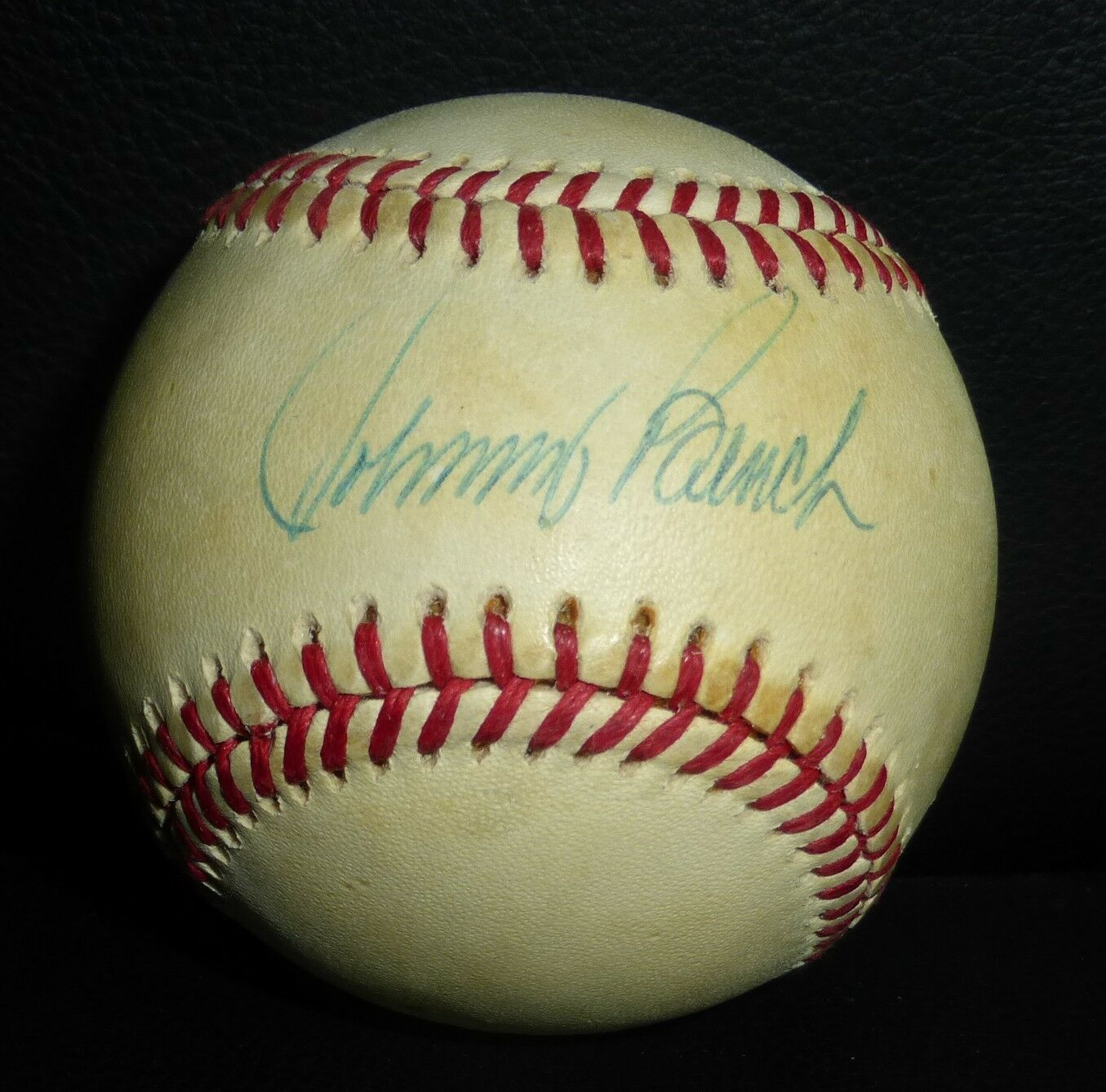 Johnny bench signed c Feeney national league baseball psa dna coa rouges autograph