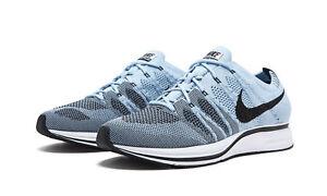 5b3c6ceb0906 Nike NikeLab Flyknit Trainer Blue Sneakers Shoes SZ Mens 9 Wmns 10.5 ...