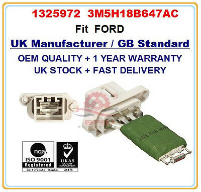 FORD HEATER BLOWER RESISTOR 1325972  3M5H18B647AC OE QUALITY PARTS
