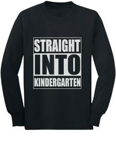 Straight-Into-Kindergarten-Back-To-School-Gift-Youth-Kids-Long-Sleeve-T-Shirt