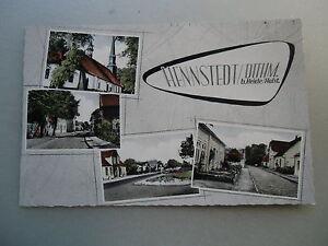 Ansichtskarte Hennstedt bei Heide i. Dithmarschen Straßenzug Kirche Ortsansicht