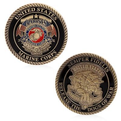 """US MARINE CORPS /""""Release the Dogs of War/"""" Commemorative Coin Semper Fidelis"""