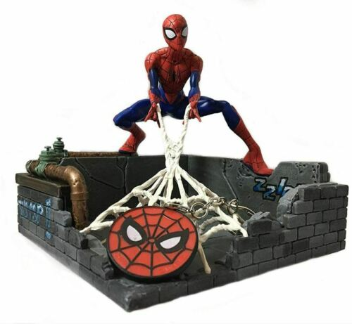 Marvel Spider Man Figure Statue Spiderman Key Holder Figurine Ships Free