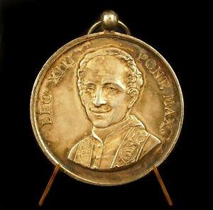Medalla-plata-papal-Papa-Papa-PAPA-Mas-Pie-Leon-IX-XIII-Vaticano-silver-medal