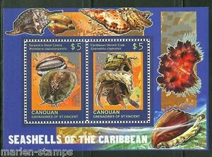 CANOUAN-2014-SEASHELLS-OF-THE-CARIBBEAN-SOUVENIR-SHEET-MINT-NH