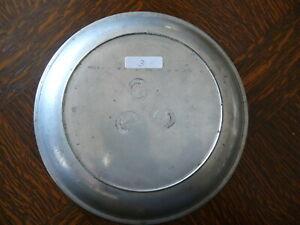 rarität ca. 200 Jahre alter  Zinn Teller Suppenteller sog. Katzenteller 3
