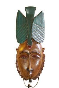 BA8-Guro-Baule-Maske-alt-Afrika-Masque-Gouro-ancien-Old-tribal-mask-Africa
