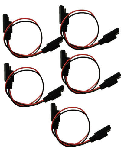 5 Pcs 18 Gauge 2 Pin Quick Disconnect Wire Harness SAE Connector for