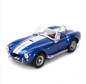 Welly-1-24-1965-Shelby-Cobra-427-SC-Diecast-Model-Racing-Car-Blue-New-in-Box