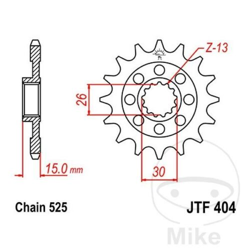 JT Front Sprocket Racing 16T 525 Pitch JTF404.16 BMW S 1000 RR ABS 2015