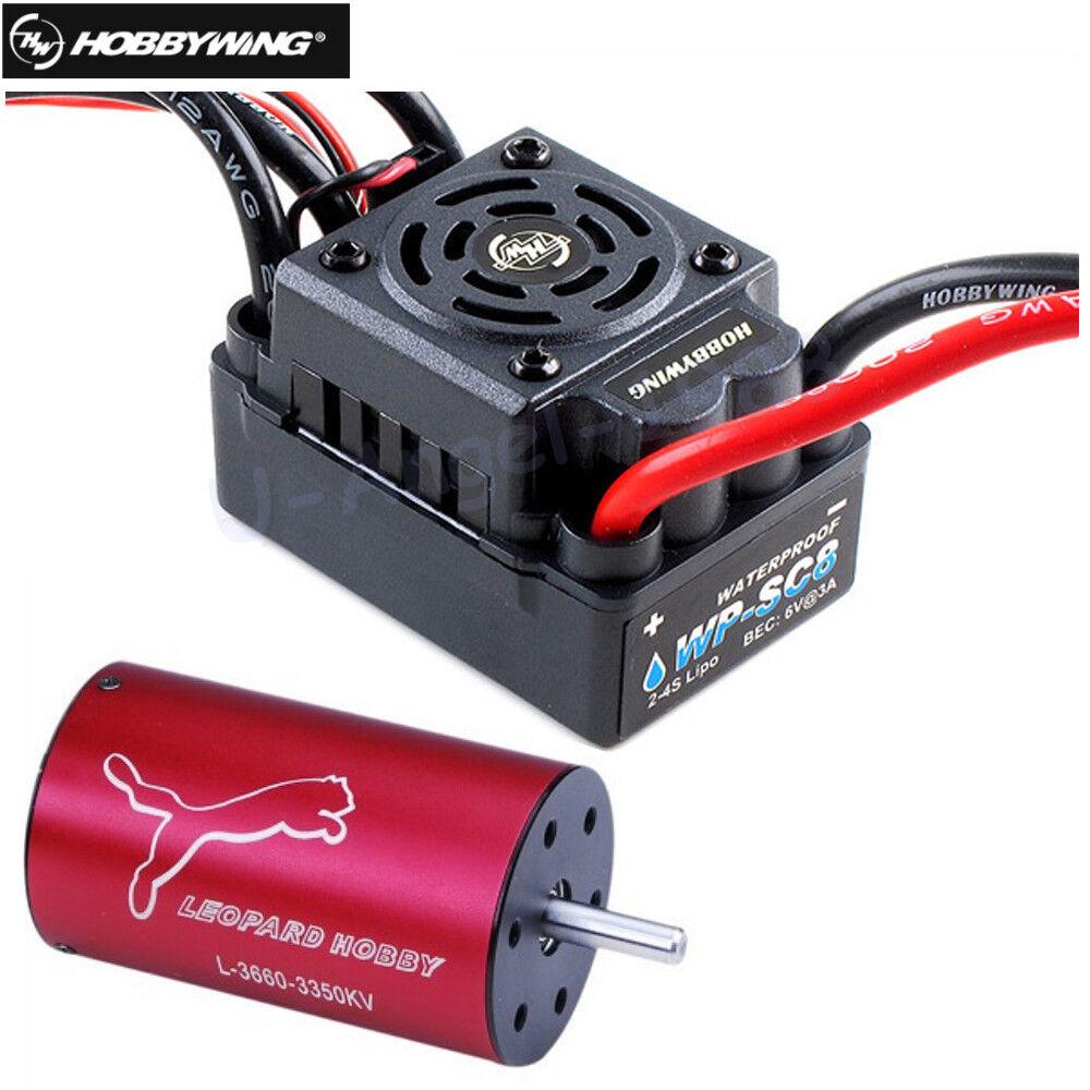 Hobbywing EZRUN Waterproof WP SC8 120A Brushless ESC + LBP3660 3800KV Motor