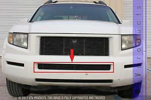 GTG, 2005 - 2008 HONDA RIDGELINE 1pc BLACK CENTER BUMPER BILLET GRILLE ...