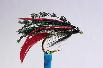 10x Mouche de peche Noyee Olive Bumbler H10//12//14 wet fly