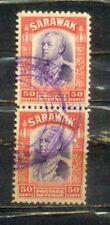 1934  Malaya Malaysia Sarawak Old Stamps 50c Pair