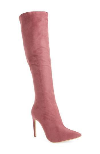 NEW JEFFREY CAMPBELL Jalouse Knee High Boot, Mauve, Women Size 6,